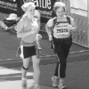 Dr. Lynn Hellerstein completing her first and only marathon!